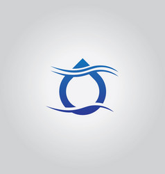 Droplet wave logo vector