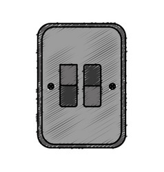 Electric switch icon vector