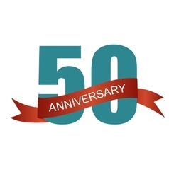 Fifty 50 Years Anniversary Label Sign for your vector image