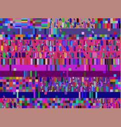 Glitch background signal error pixel mosaic vector