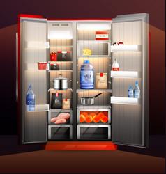 Glowing fridge organization vector