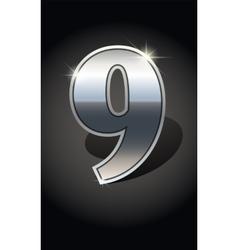 Golden numbers set vector image vector image