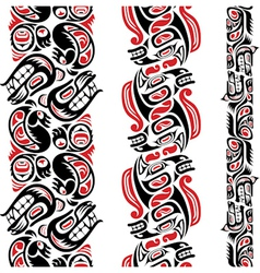 Haida style tattoo pattern vector image vector image