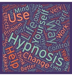 Hypnosis a part of life text background wordcloud vector image vector image