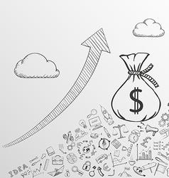 Increase profits stock vector