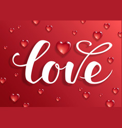 Love text calligraphic lettering vector