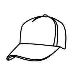 Monochrome contour of baseball cap vector