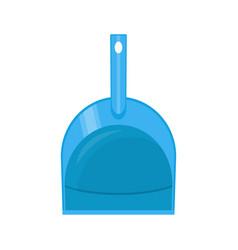 Plastic dustpan isolated on white vector