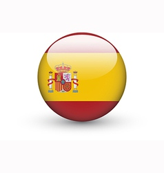 Round icon with national flag of Spain vector image