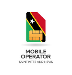 Saint kitts and newis mobile operator sim card vector