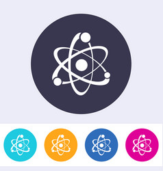 single atom sign icon vector image