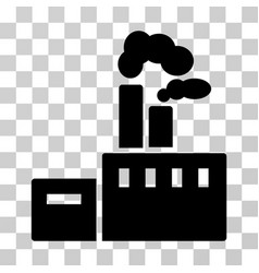 Smoking factory icon vector