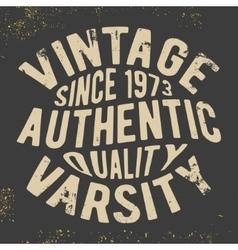 Vintage varsity stamp vector