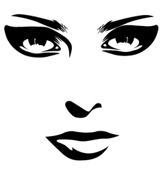 Woman face detail closeup vector