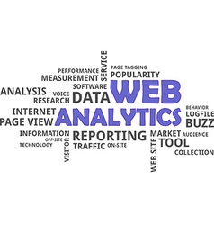 Word cloud web analytics vector