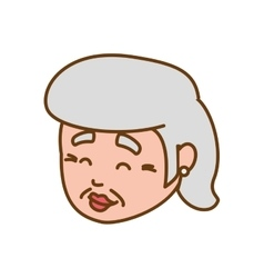 Grandmother old person woman female icon vector