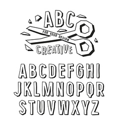 Stock creative alphabet effect vector