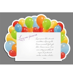 Celebrating blank page with balloons vector image