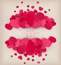 festive background Valentines Day vector image