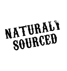 Naturaly Sourced rubber stamp vector image