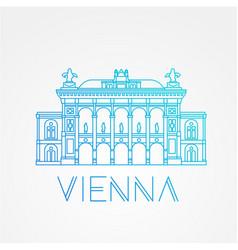 Vienna state opera the symbol of austria vector