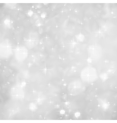 Silver Sparkles background christmas vector image