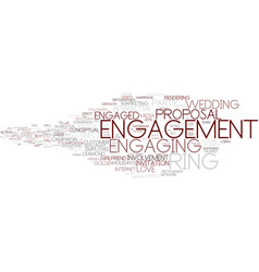 Engaging word cloud concept vector