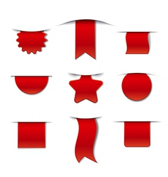 Red tags collection vector