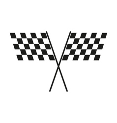 The checkered flag icon finish and start winner vector