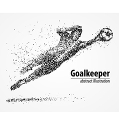 Abstract football goalkeeper athlete vector