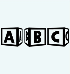 Alphabet cubes with ABC letters vector image vector image