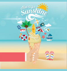 away summer vector image