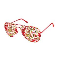 Beautiful glasses vector image vector image
