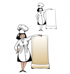chef with menu vector image