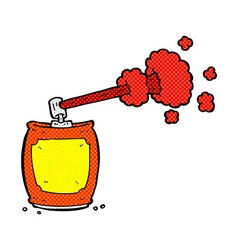 comic cartoon aerosol spray can vector image