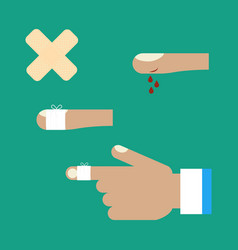 first aid for a cut vector image vector image