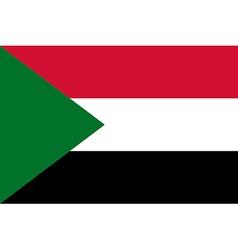 Flag of Sudan vector image vector image