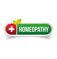 Homeopathy alternative medicine logo vector
