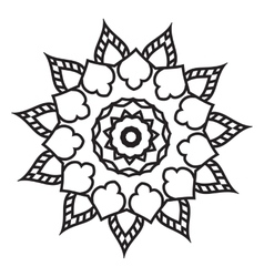 Mandala Hand drawn ethnic decorative elements vector image vector image