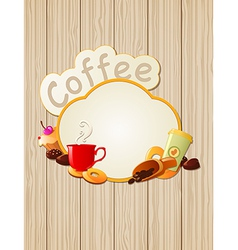 menu label coffee vector image vector image