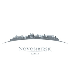 Novosibirsk russia city skyline silhouette vector