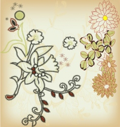 ornamental flower vector image vector image