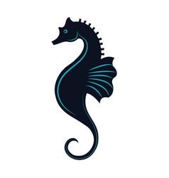 sea horse icon vector image vector image