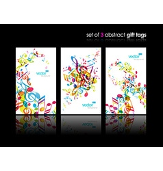 Set of abstract colorful music tags vector image