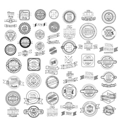 set retro vintage ribbons and label vector image
