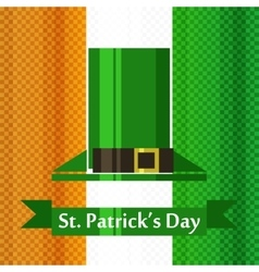 st patrick day irish flag vector image vector image