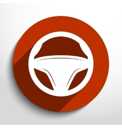 Steering wheel web icon vector