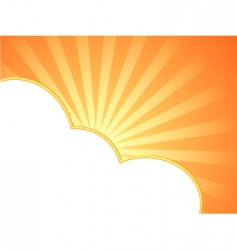 summer frame vector image