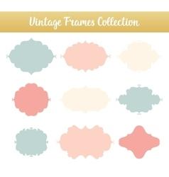 Vintage frames on white background vector image