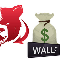 Wall street new york financial vector